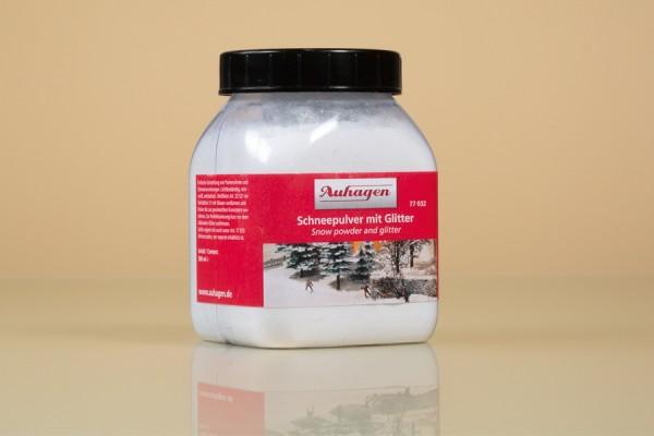 Auhagen 77032 H0/TT/N/0/G Wintergestaltung, Schneepulver mit Glitter in Streuflasche