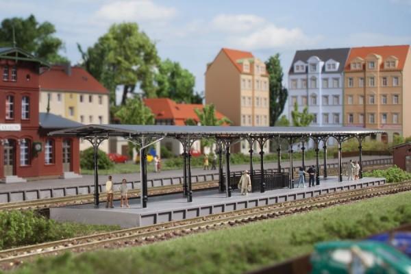 Auhagen 14481 N-(Modellbausatz)/Ausgestaltung, Bahnsteig