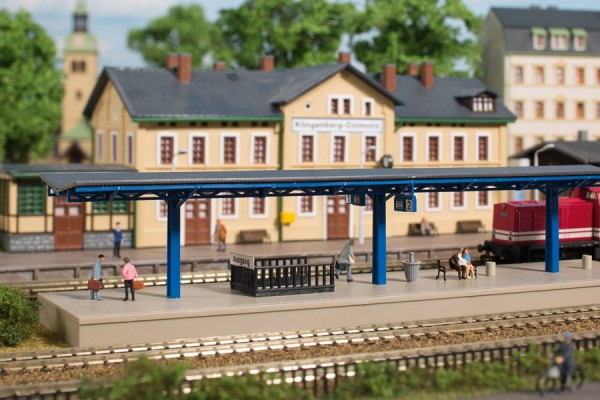 Auhagen 13312 TT-(Modellbausatz)/Ausgestaltung, Bahnsteig