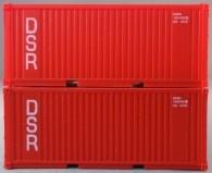 """PSK 6923 TT-Ladegüter, 2-teiliges Container Set bestehen aus 20ft Container von """"DSR"""""""