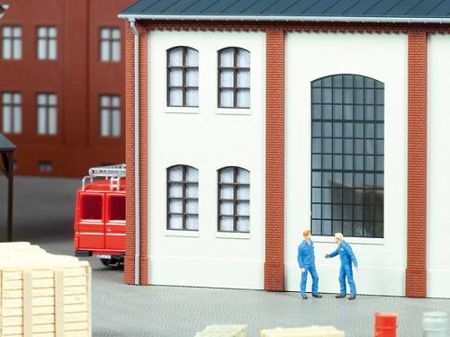 Auhagen 80204 H0-BauKastenSystem / Bauteile: Fenster braun