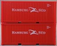 """PSK 6926 TT-Ladegüter, 2-teiliges Container Set bestehen aus 20ft Container von """"Hamburg Süd"""""""