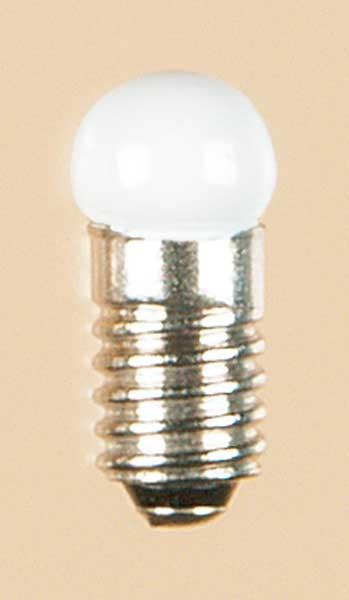 Auhagen 56784 1-Kleinstglühlampe mit Schraubsockel, E5,5 (19V), opal / Kugel