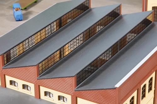 Auhagen 80308 H0-BauKastenSystem / Bauteile: Sheddach rot