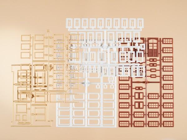 Auhagen 48647 H0/TT-Bauteile: Fenster, Fenstergewände, Türen