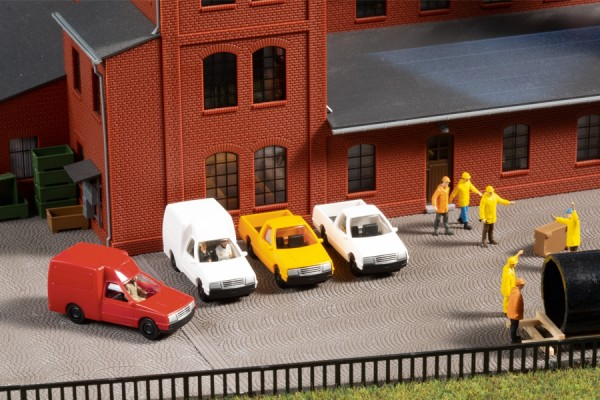 Auhagen 43660 TT-Fahrzeug-Modell, 2 x Pickup- & Kastenwagen - Nutzfahrzeuge