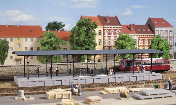 Auhagen 11440 H0-(Modellbausatz)/Ausgestaltung, Bahnsteig