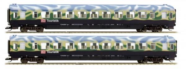 Tillig 501130 TT-Reisezugwagen-Set 2-teilig in Touristikzug-Lackierung der DBAG, Ep. V