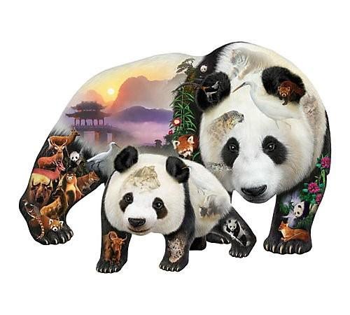 """SunsOut 90441 Puzzle zu 1000-Teilen, by Dennis Rogers """"Pandabären"""""""