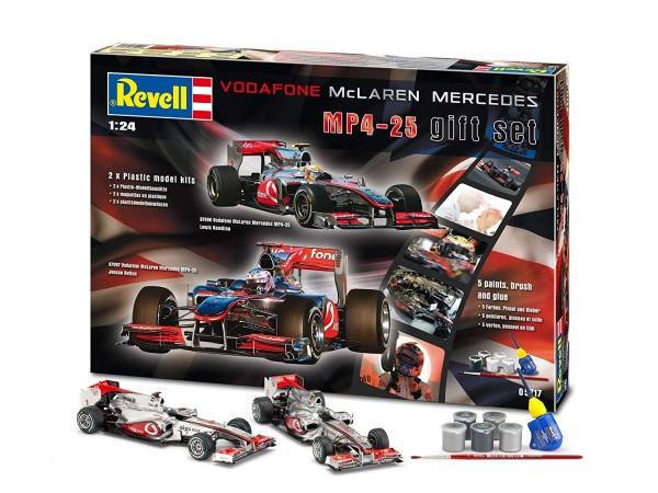 """Revell-Fahrzeugmodell, 05717 Modell-Set mit 2 Rennwagen von """"VODAFONE McLaren - Mercedes"""""""