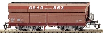 """Tillig 15211 TT-Offener Drehgestell-Schüttgutwagen Ep. IV, der """"GBAG"""", eingestellt bei der DB"""