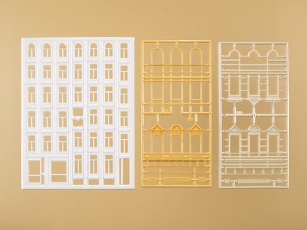 Auhagen 48651 H0/TT-Bauteile: Fenster und Gewände für Wohngebäude