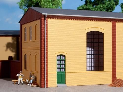 Auhagen 80602 H0-BauKastenSystem / Bauteile: Wände 2325B gelb, Industriefenster E