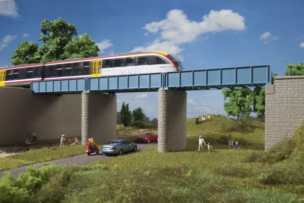 Auhagen 11442 H0-(Modellbausatz), Erweiterung Blechträgerbrücke