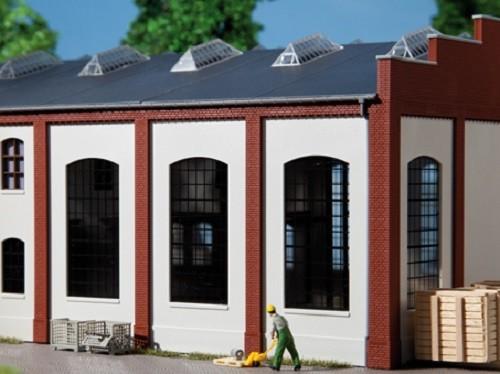 Auhagen 80709 H0-BauKastenSystem / Bauteile: Wände 2342F geputzt, Industriefenster E
