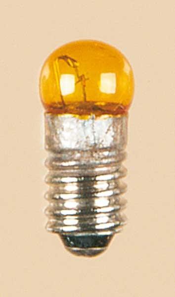 Auhagen 56783 1-Kleinstglühlampe mit Schraubsockel, E5,5 (19V), gelb / Kugel