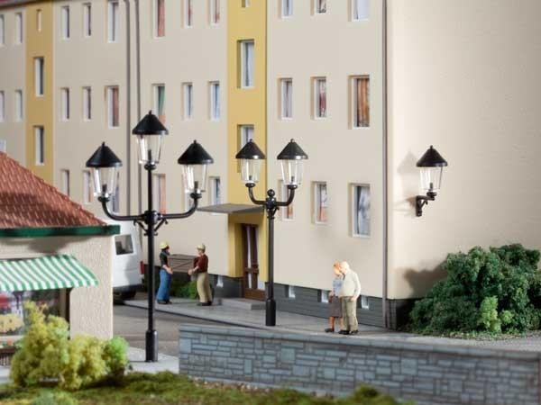 Auhagen 42631 H0/TT-Ausgestaltungs-Zubehör, Park- und Wandlaternenattrappen