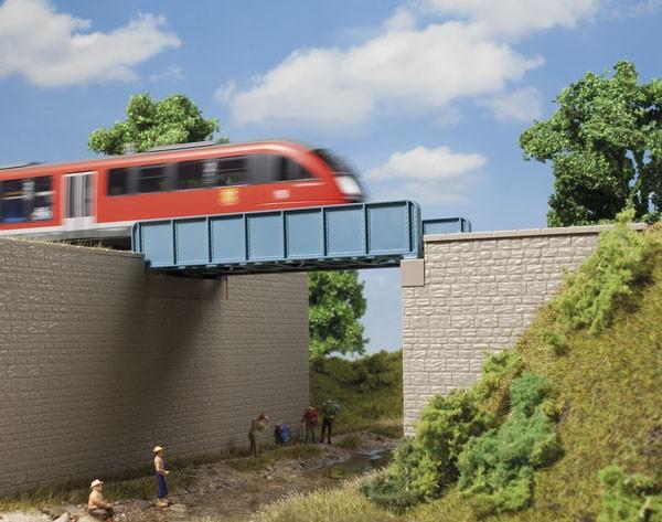 Auhagen 11441 H0-(Modellbausatz), Blechträgerbrücke