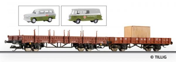 """Tillig 501196 TT-""""Club""""-Exklusivmodell 2012 Wagen-Set """"Fortschritt"""" Ep.IV eingestellt bei der DR"""
